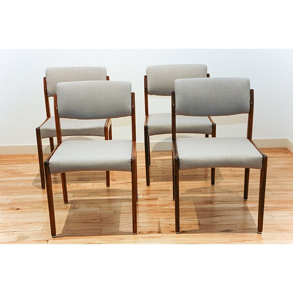 Bramin Rosewood Dining Chairs - 4 - Image 3 of 3