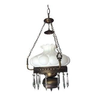 Antique Milk Glass Dome Chandelier