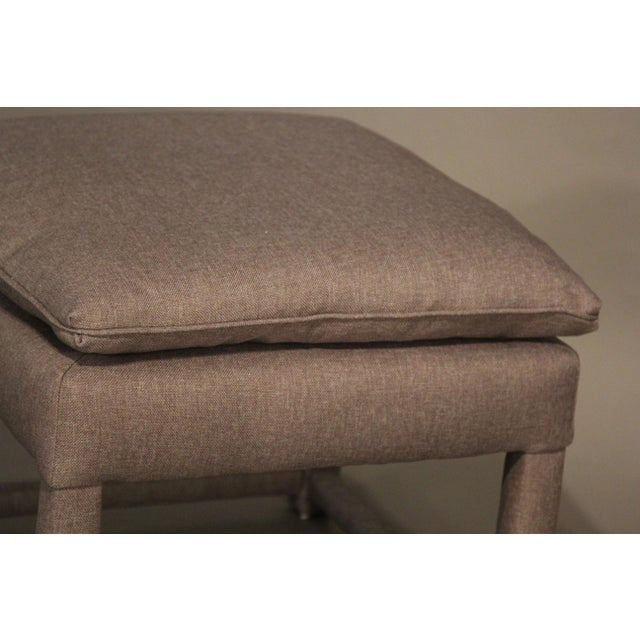Upholstered Parsons Style Ottomans - Pair - Image 6 of 6