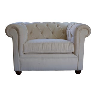 Pottery Barn Grand Chesterfield Upholstered Armchair