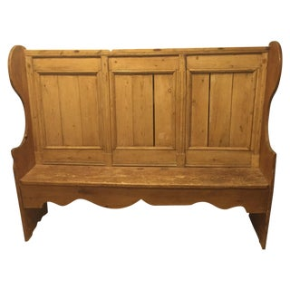 Early 19th Century English Pine Bench