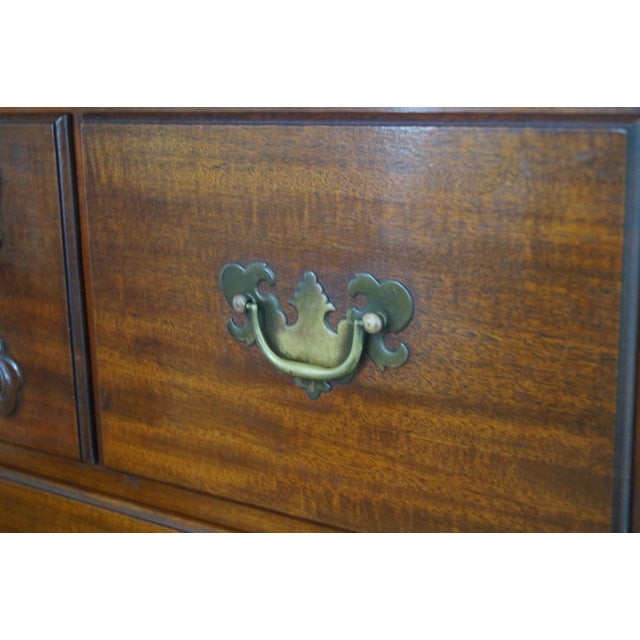 Image of Nathan Margolis Solid Mahogany Chippendale Chest