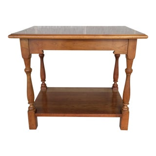 Circa 1966 L. Stickley Cherry Valley 2 Tier Accent Table