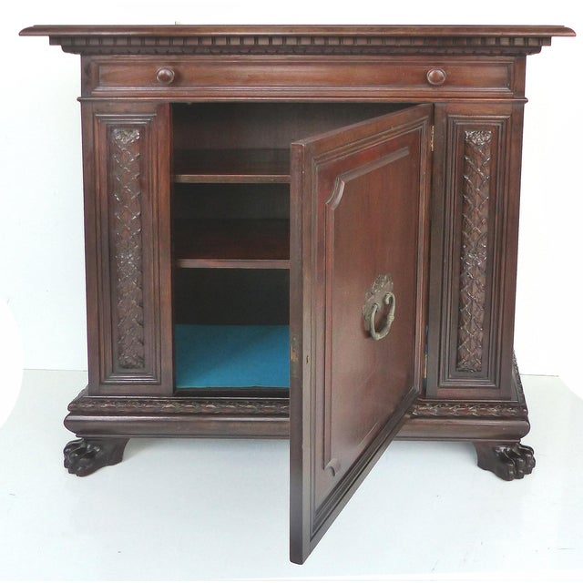 1930 S. Pagano Carved Lion Paw Cabinet - Image 4 of 10