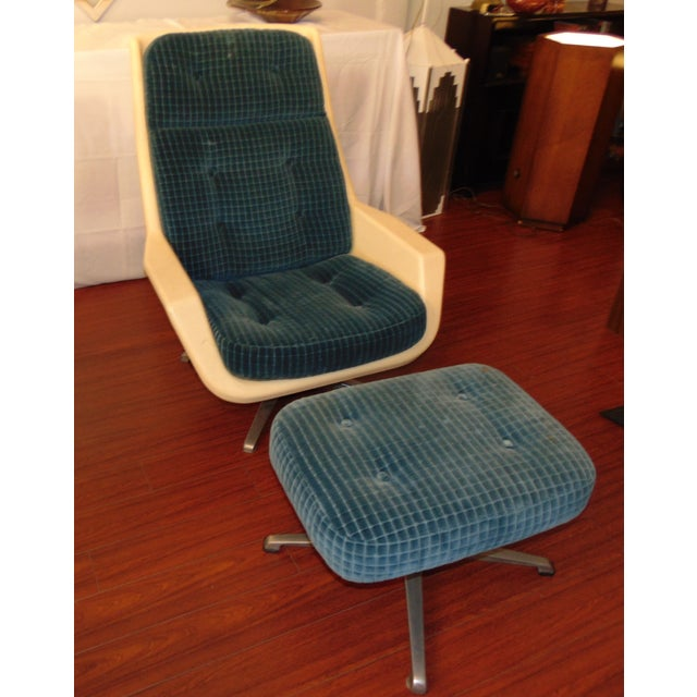 Molded Chair & Ottoman - Image 9 of 11