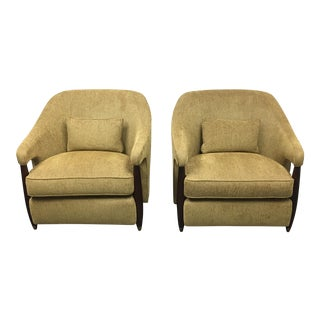 New Baker Furniture Hermano Armchairs - A Pair