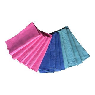 Linen & Cotton Bright Napkins - Set of 14