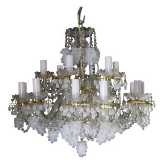 White & Clear Grape Crystal Chandelier