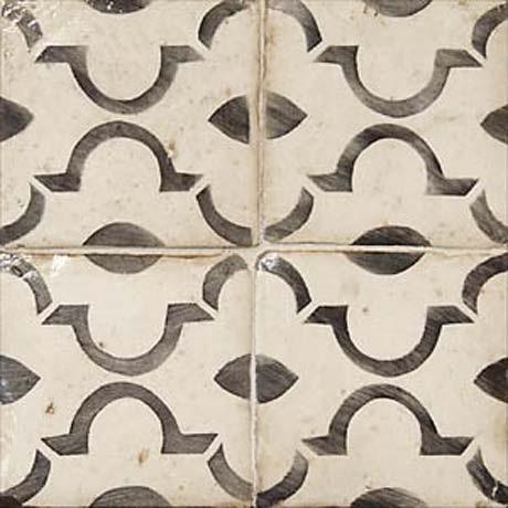moorish style hand painted terra cotta tile