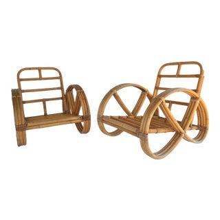 Paul Frankl Style Pretzel Chairs - Pair
