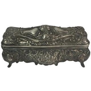 French Art Nouveau Silver Box