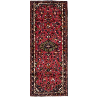 "Hamadan Vintage Persian Rug, 3'10"" x 10'5"""