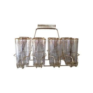 MCM Fred Press Cocktail Glasses & Carrier - Set/8