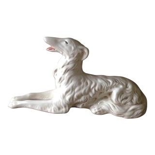 Vintage Ceramic Wolfhound Dog Figurine