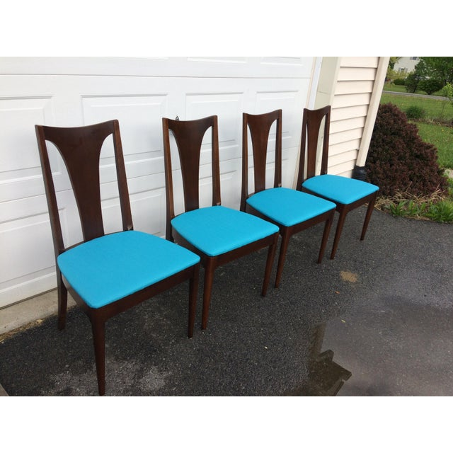 Broyhill Restored Walnut Chairs - Set of 4 - Image 3 of 8