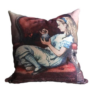 Velvet Alice in Wonderland Pillow