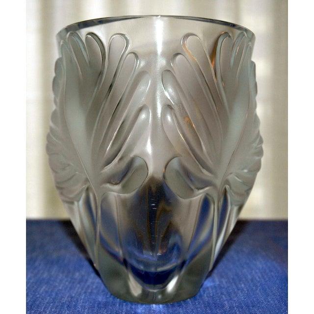 "Lalique ""Palm Fronds"" Crystal Vase - Image 5 of 5"