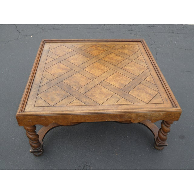 Vintage French Provincial Coffee Table: Vintage French Country Barley Twist Coffee Table By Baker