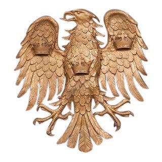 Large Antique Italian Cast Iron Eagle circa 1890