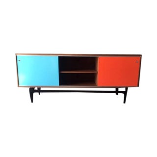 Custom Sculpted Mid-Century Style Credenza