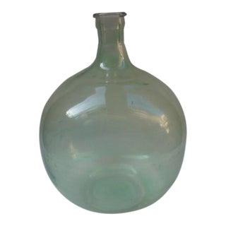 Vintage Green Glass Demijohn Bottle