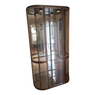 Glass and Mirror Curio Cabinet