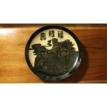 Image of Asian Fortune Gods Hand Carved Ceramic Charger Plate