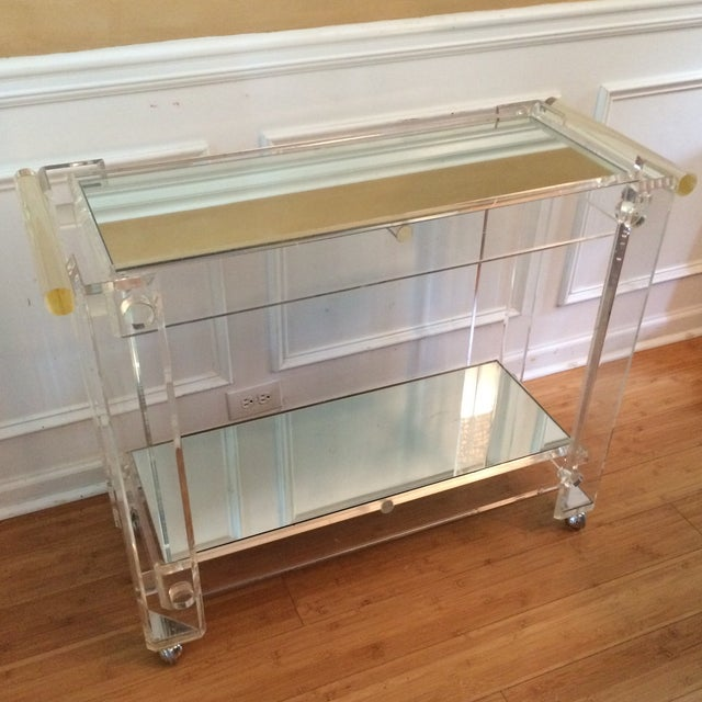 Lucite Bar Cart Attributed to Hollis Jones - Image 2 of 7
