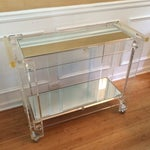 Image of Lucite Bar Cart Attributed to Hollis Jones