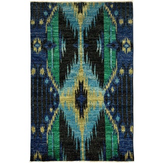 "Ikat, Hand Knotted Area Rug - 4' 0"" x 6' 1"""