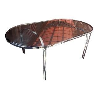 Vintage Polished Chrome Dining Table