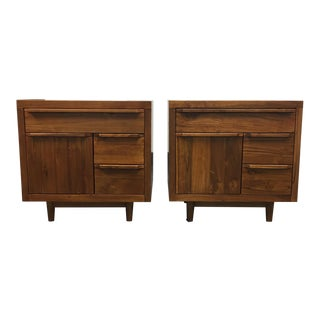 Solid Teak Side Tables - a Pair