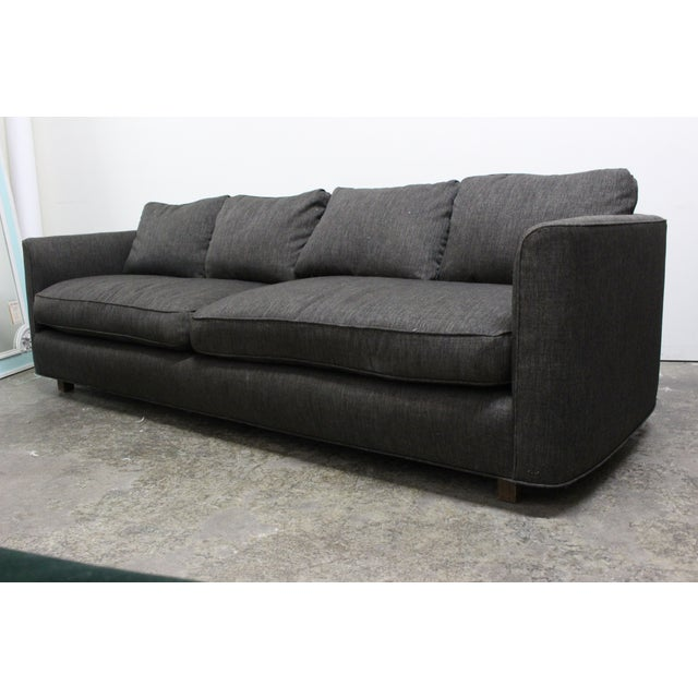 Henredon Curved Arm Charcoal Gray Sofa - Image 2 of 9