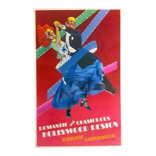 "Richard Bernstein 1974 ""Romantic & Glamorous Hollywood Design"" Lithograph Poster"