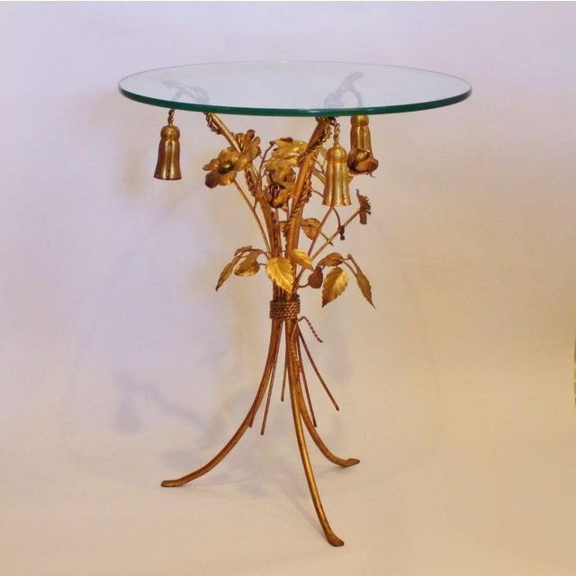 Vintage Italian Gilt Tassel & Rope Table - Image 2 of 5