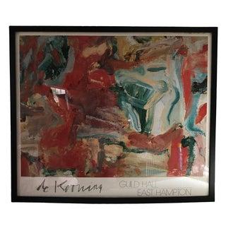 Vintage Framed De Kooning Poster