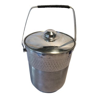 Vintage Italian Insulated Aluminum Ice Bucket by Nasco