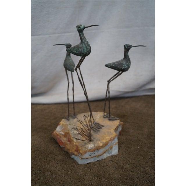 Curtis Jere Metal Sculpture of Shore Birds - Image 10 of 10
