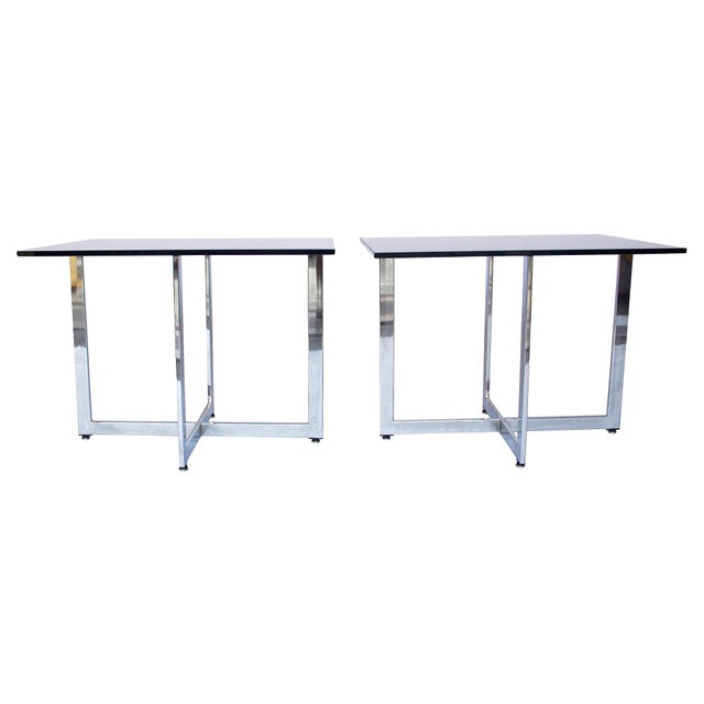 Baughman-Style Side Tables - A Pair - Image 2 of 6