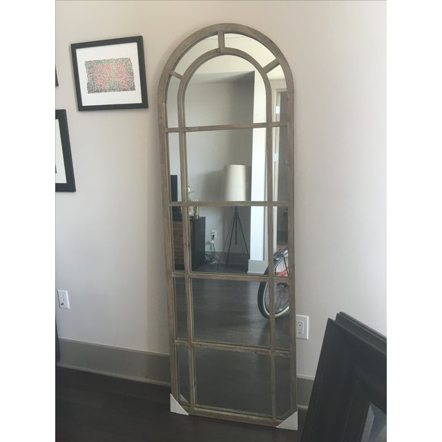 Arched Wood Mirror - Image 2 of 5