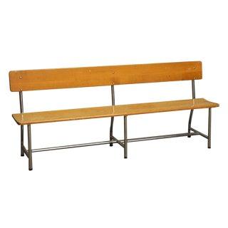 Auditorium Wood & Chrome Bench