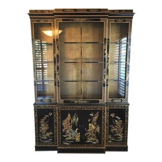 Chinoiserie Style Glass Front Display Cabinet