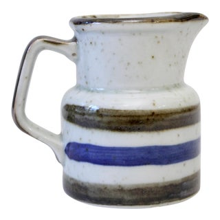 Japanese Pottery Striped Creamer Pitcher