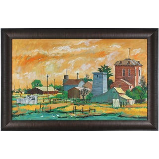 """Alviso"" California Farm Painting by R. Matteson"