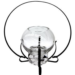 Wrought Iron Glass Lantern Candleholder