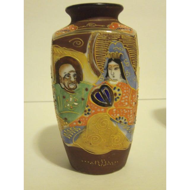 Vintage Japanese Satsuma Vases - Set of 3 - Image 4 of 10