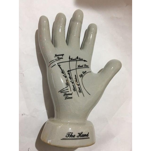 English Palmistry Ceramic Hand - Image 4 of 9