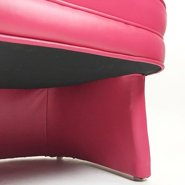 Pair of Vintage Pink Leather Club Chairs - Image 11 of 11