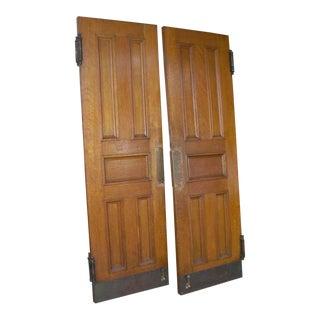 Oak Double Church Entry Doors - a Pair
