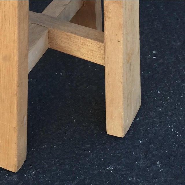 Simple Teak Stool - Image 6 of 6
